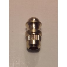 Brass cap for closing the tube