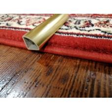 Polished gold triangular aluminum tube