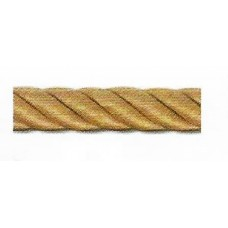 Decorative hand rail gold yellow, diam. 30mm