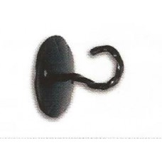 Wall hook with eyelet for final black